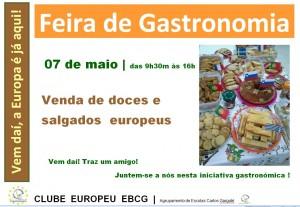 cartaz feira gastronomia